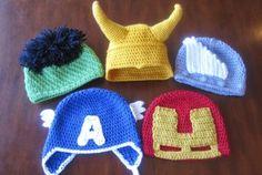Avengers Crochet Hats