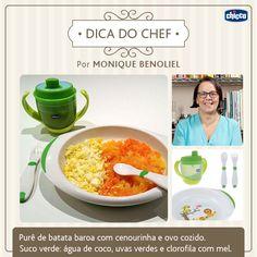 """Dica da top Chef Monique Benoliel para as """"Chefs"""" mamães que adoram cozinhar! Olha que delícia! Cuidar da alimentação dos pequenos é de fundamental importância. Invista em receitas nutritivas para garantir uma alimentação balanceada."""