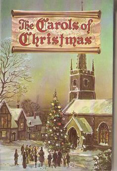 Vintage Carols of Christmas Illustrated booklet  1950's Christian World Songs, singing