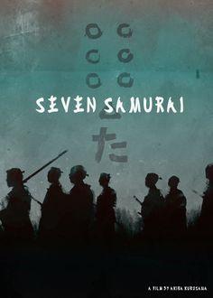 Seven Samurai film poster<br/> Directed by Akira Kurosawa, 1954