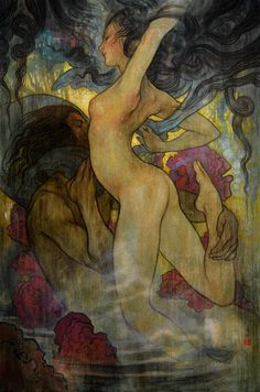 """""""Dusk"""" New Work by Rebecca Guay at the R, Michelson Galleries."""