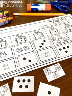 Back to school monsters that is. It's such a cute and fun back to school theme! I wanted to share a sneak pe. Number Sense Kindergarten, Kindergarten Centers, Kindergarten Classroom, Teaching Math, Math Centers, Maths, Free Preschool, Preschool Activities, Number Activities