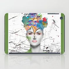 'Colorist' ipad tablet cases with art by Nola Lee Kelsey on Society6