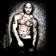 Hot sexy tattoo fit men body by www.fineart-work.com