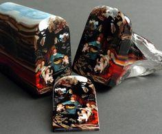 Schilderij van glas