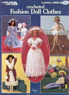 Free Copy of Pattern - Crocheted Fashion Doll Clothes