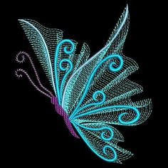 Supplier of Machine Embroidery Designs and Fonts for the Embroidery World Machine Embroidery Designs, Embroidery Flowers Pattern, Applique Designs, Embroidery Applique, String Crafts, String Art, Cover Pics For Facebook, Butterfly Stencil, Simple Butterfly