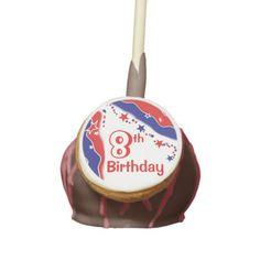 Stars and Stripes CUSTOM EIGHTH BIRTHDAY Cake Pops