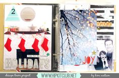 #seasonsgivings2016 ★ kim watson ★ design ★ papercraft: December Documented Album- Inside Pages