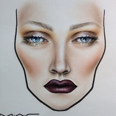 Facecharts for MAC makeup