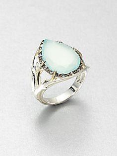 Elizabeth and James - Semi-Precious Multi-Stone Teardrop Ring