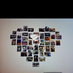 Heart picture wall