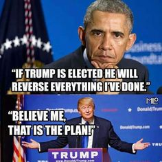"""I SURE HOPE HE DOES.......THANK """"GOD"""" FOR TRUMP......AT LEAST NOW WE CAN GO FORWARD NOT BACKWARD....CONGRATULATIONS MR. TRUMP......WE THE PEOPLE HAVE VOTED AND SPOKEN AS WELL."""