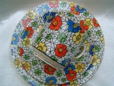 Image detail for -... china chintz art deco tea trio cup saucer plate lovely chintz