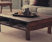 Early Spring SPECIAL. The Felicia. Custom (made to order) Coffee Table of reclaimed wood.