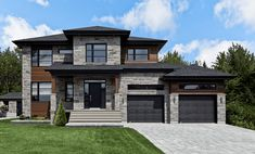 Creations page 3 Dream House Exterior, Exterior House Colors, Dream House Plans, Modern House Plans, Modern House Design, House Floor Plans, Style At Home, Luxury Homes Dream Houses, Dream Home Design