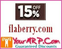 Flat 15% OFF on products at Flaberry.Com