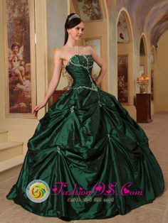emerald quinceanera dresses | ... Dress in Laval France Style QDZY393BUQ, Hunter Green Quinceanera Dress