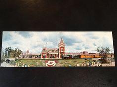 Panorama Postcard of the Disneyland Main Entrance and Train Station by VintageDisneyana on Etsy