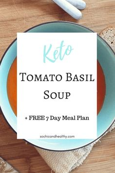 delicious keto tomato basil soup. Easy to make for meal prep. Great healthy dinner the whole family will love. Repin to remember. Low Carb Recipes, Healthy Recipes, Healthy Lunches, Free Recipes, Healthy Food, Healthy Facts, Lunch Recipes, Healthy Eating, Cooking Recipes