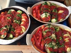 "La bandieri with added herbs, garlic & passata - each row of the ""flag"" has different herbs - Italian supper club"