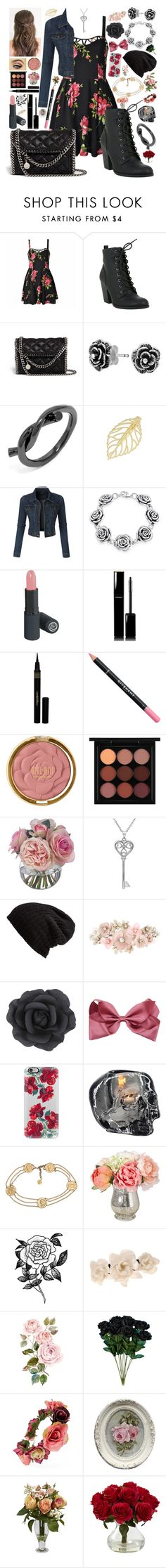 """Iris: Modern Day Juliet"" by aspiretoinspire22 ❤ liked on Polyvore featuring Ally Fashion, STELLA McCARTNEY, Bling Jewelry, BaubleBar, LE3NO, Chanel, Napoleon Perdis, Givenchy, Milani and MAC Cosmetics"