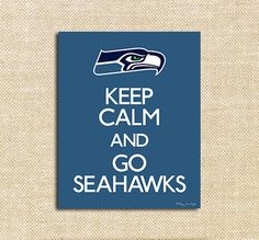Seahawks Superbowl Football Night Printable Poster   Instant Download   Seahawks vs Broncos Superbowl Party Decor