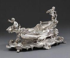 Veuve Flamant & Leon Champenois ,A French Silver Centrepiece, Paris 1890/1894