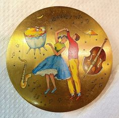 1950s Gold Compact