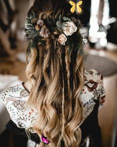 <br> Bride Hairstyles For Long Hair, My Hairstyle, Braids For Long Hair, Loose Hairstyles, Hairstyle Wedding, Hair Wedding, Bridal Hairstyles, Hairdos, Wedge Hairstyles