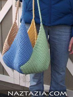 Crochet windmill bag