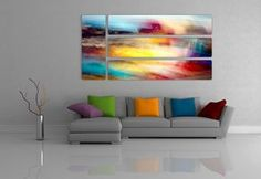 30% off $5,000 CAD 104x52 inches wall design of 4 pieces prints on aluminum sheet mounted on 1 inch thick foam core. Abstract photo of a Toronto harbor front.