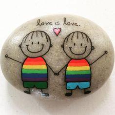 """""""#artwork #artrocks #artstones #beachstone #faith #happy #happyrocks #heart #instaart #instalove #iloverocks #kærlighed #kærlighederkærlighed #lgbt…"""""""