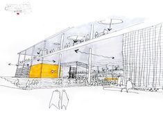 'Everywhere is here' (project) by Guy Ailion - University of Witwatersrand / Wins 2009 National Corobrik Architecture Student Award Architecture Sketchbook, Architecture Graphics, Concept Architecture, Architecture Design, Foster Architecture, Architecture Diagrams, Architecture Portfolio, Classical Architecture, Sketches Arquitectura