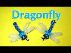Rainbow Loom Designs: DRAGONFLY Charm: How To Make Loom Bands (DIY Mommy). Learn How to Make Loom Bands Rainbow Loom Charms Dragonfly Tutorial. I will show you how to make a Rainbow Loom Dragonfly charm in this video. Pick the colors you like or make a Rainbow Loom Tutorials, Rainbow Loom Patterns, Rainbow Loom Creations, Rainbow Loom Bands, Rainbow Loom Charms, Rainbow Loom Bracelets, Loom Band Animals, Rainbow Loom Animals, Loom Bands Designs