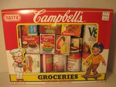 Vintage Campbell Soup Grocery Play Miniatures, 1989, ages 3 and up