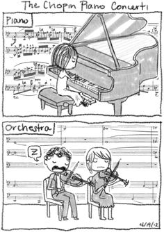 Guess we know which instrument Chopin preferred.