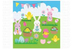 Easter ClipArt by SA ClipArt on Creative Market