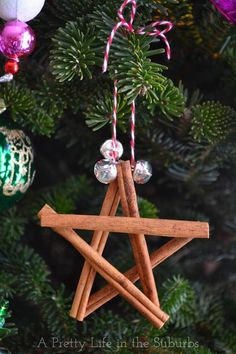 Cinnamon Star Ornaments. A really simple Christmas craft that even the kids can do!