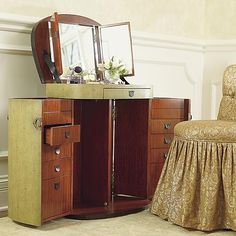 Marie-Galante Make Up Trunk - Frontgate traditional makeup mirrors