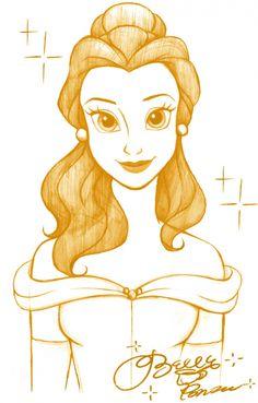 Одноцветные портреты Дисней Принцесс