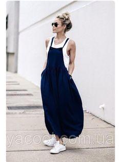 Женский сарафан - фартук свобоного кроя, классная модная модель, разные цвета , длина по