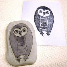 Ro Bruhn - owl stamp