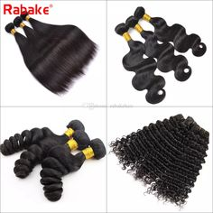8A top quality human hair weave Cheapest price You can buy directly Cheap Hair Extensions, Virgin Hair Extensions, Weave Hairstyles, Straight Hairstyles, Cool Hairstyles, Deep Curly, Brazilian Body Wave, Loose Waves, Remy Hair