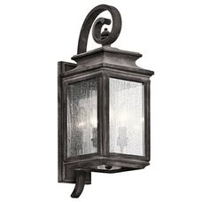 - Overview - Details - Why We Love It There is a taste of industrial flair in this traditional outdoor wall fixture from the Wiscombe Park collection. With details reminiscent of old world lanterns th