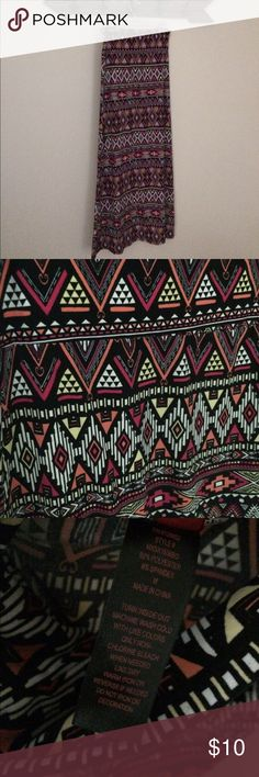 Bright Aztec maxi skirt Bright comfortable Aztec maxi skirt. Only wore a few times Hot Kiss Skirts Maxi