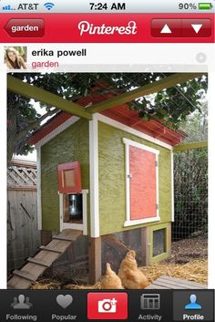 And this chicken coop is fabulous too!-Those of you who follow me may or may not know that I really want to have chickens some day... They will have a coop like this! =)