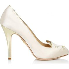 be4ff57f1b4 Charlotte Olympia Cat Face Satin Pumps