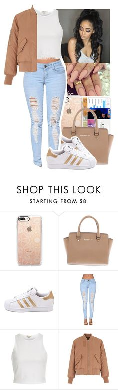 """""""The Weeknd - The Knowing"""" by jasmine1164 ❤ liked on Polyvore featuring Casetify, Michael Kors, adidas, River Island and Whistles"""