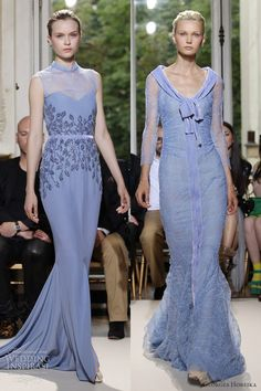 georges hobeika couture fall 2012 pale blue sheath gowns